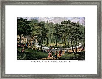 1880s Circular Pleasure Railway - Framed Print