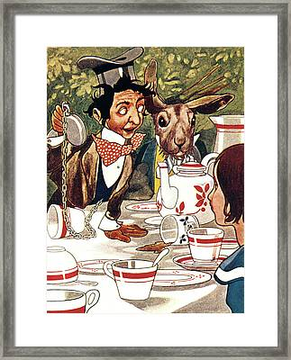1880s Illustration From Alice Framed Print