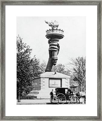 1880s Statue Of Liberty Torch Framed Print