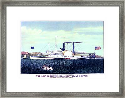1880s The Low Pressure Steamboat Isaac Framed Print
