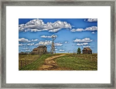 1880s Town Murdo South Dakota Framed Print