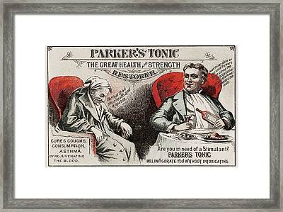 1880s Usa Parkers Tonic Magazine Advert Framed Print