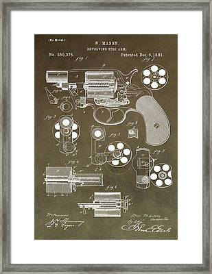 1881 Firearm Patent Framed Print by Dan Sproul