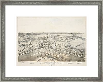 1881 New Braunfels Texas Map Framed Print