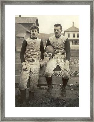 1885 Football Players Framed Print by Underwood Archives