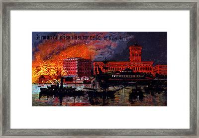 1885 German American Insurance Of New York Framed Print
