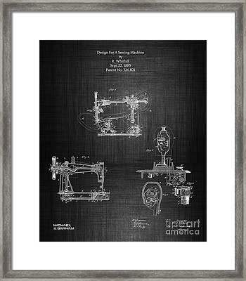 1885 Singer Sewing Machine Framed Print