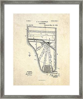 1885 Steinway Piano Frame Patent Art Framed Print by Gary Bodnar