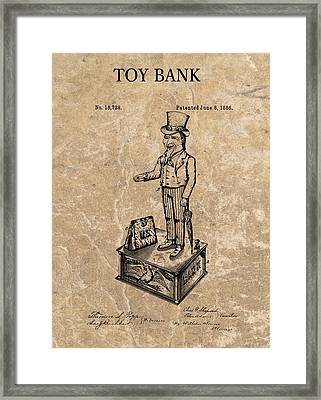 1886 Toy Bank Patent Framed Print by Dan Sproul