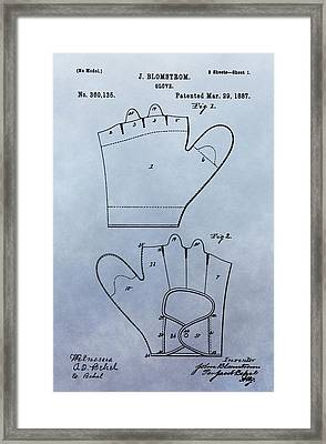 1887 Baseball Glove Patent Framed Print by Dan Sproul