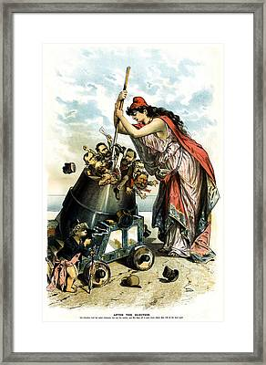 1888 Anti Us Labor Party Cartoon Framed Print by Historic Image