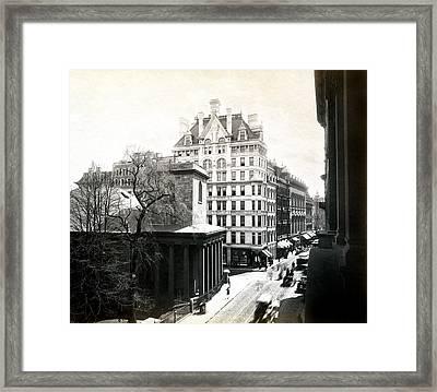 1890 Tremont Street Boston Framed Print