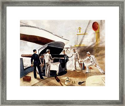 1890s 1891 Armored Cruiser Us Navy Gun Framed Print