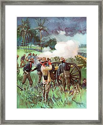 1890s 1898 Us Army Field Artillery Framed Print