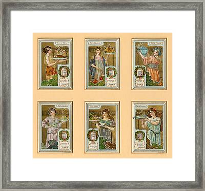 1890s France Liebig Cigarette Card Framed Print by The Advertising Archives
