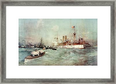 1890s Us Battleship Maine February 14 Framed Print