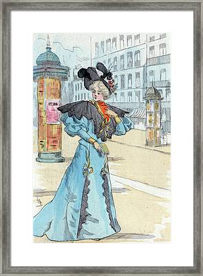 1892, Womens Fashion In Nineteenth-century Paris Framed Print