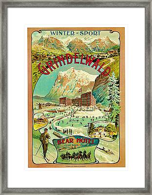 1893 Grindelwald Vintage Travel Art Framed Print by Presented By American Classic Art