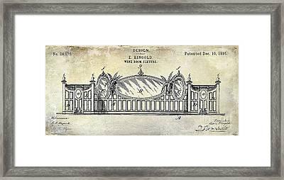 1895 Wine Room Fixture Design Patent Framed Print