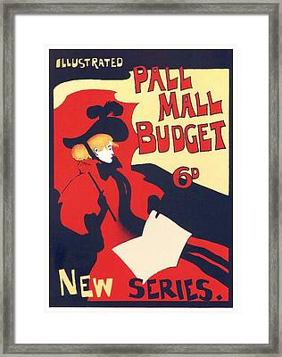 1896 - Pall Mall Budget Advertisement - Poster - Color Framed Print