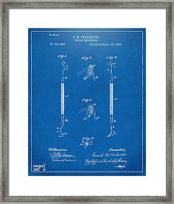 1896 Dental Excavator Patent Blueprint Framed Print by Nikki Marie Smith
