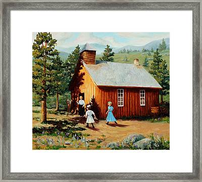 1896 School House Framed Print