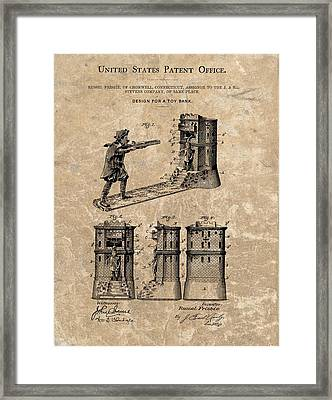 1896 Toy Bank Patent Framed Print by Dan Sproul