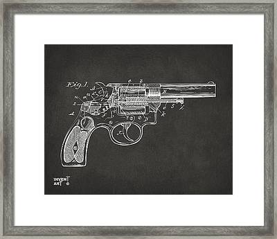 1896 Wesson Safety Device Revolver Patent Minimal - Gray Framed Print by Nikki Marie Smith