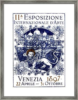 1897 Venice International Art Exhibition Framed Print by Historic Image
