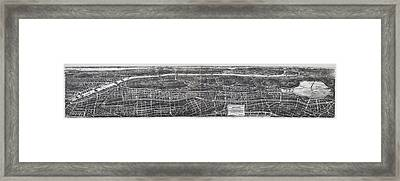 1897 Vintage Nyc Map Of The South Bronx Framed Print by Stephen Stookey