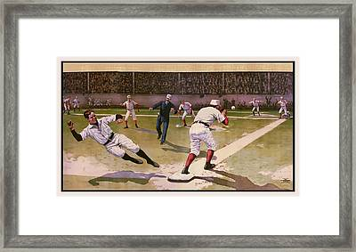 1898 Baseball -  American Pastime  Framed Print by Daniel Hagerman