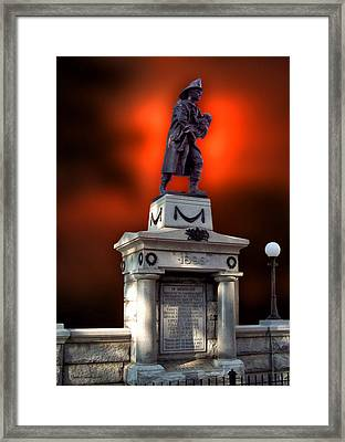 1898 Firemen Memorial St Joes Michigan Framed Print by Thomas Woolworth