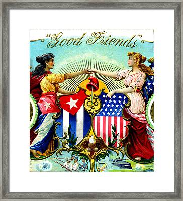 1898 Good Friends Cuban Cigars Framed Print by Historic Image
