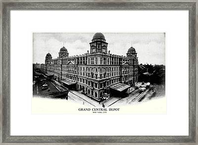 1898 Grand Central Depot New York City Framed Print by Historic Image