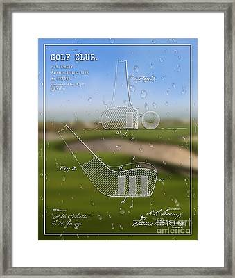 1899 Golf Club Patent Art H.r. Sweny 1 Framed Print