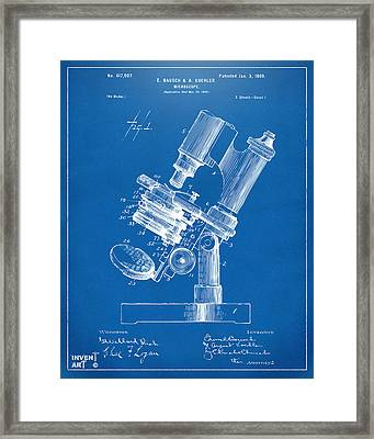 1899 Microscope Patent Blueprint Framed Print