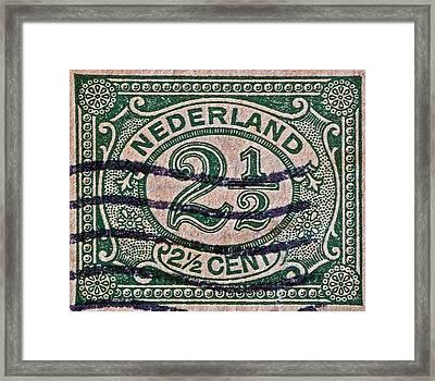 1899 Netherlands Stamp Framed Print