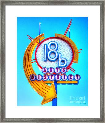 18b Arts District Framed Print
