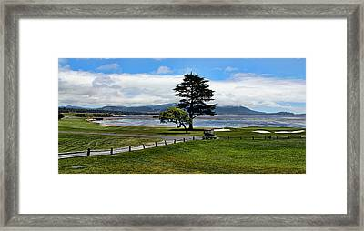 18th At Pebble Beach Panorama Framed Print