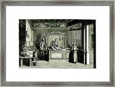 18th Century Bakery Framed Print by Collection Abecasis/science Photo Library