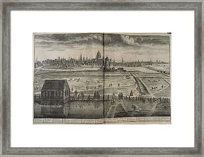 18th-century London Framed Print