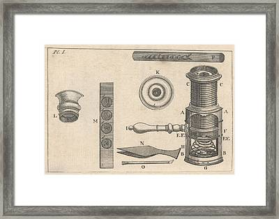 18th Century Microscope, Artwork Framed Print by Science Photo Library