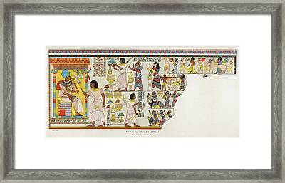 18th Dynasty  Syrian Chiefs Pay Tribute Framed Print by Mary Evans Picture Library