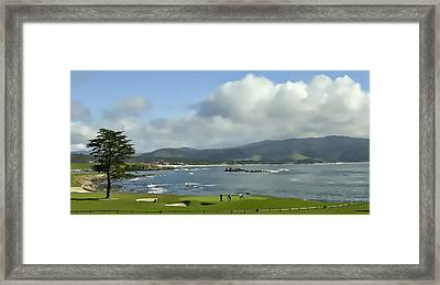 18th Hole Pebble Beach Framed Print
