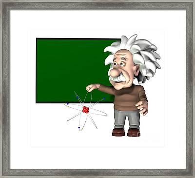 Albert Einstein, Artwork Framed Print by Friedrich Saurer
