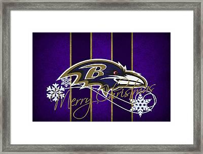Baltimore Ravens Framed Print by Joe Hamilton