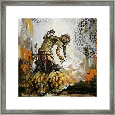 Abstract Belly Dancer 5 Framed Print