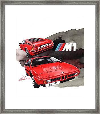 Bmw M1 Framed Print by Yoshiharu Miyakawa