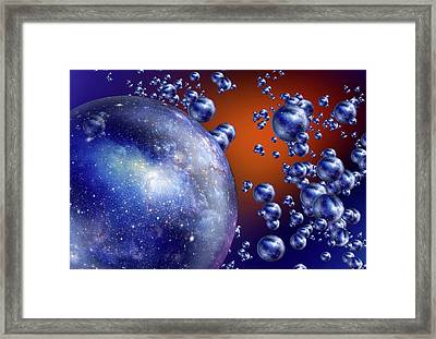 Bubble Universes Framed Print by Detlev Van Ravenswaay