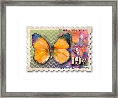 19 Cent Butterfly Stamp Framed Print by Amy Kirkpatrick